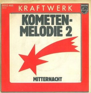 The cover of the single, Kraftwerk - Kometenmelodie 2