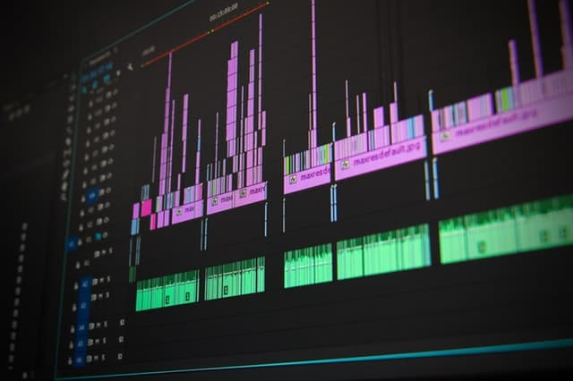 A part visible of a video editing software program