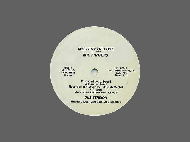 The original Mr. Fingers ‎– Mystery Of Love vinyl release