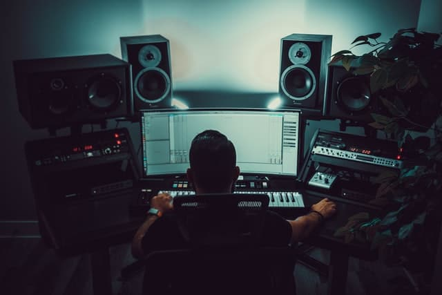 A producer in a studio