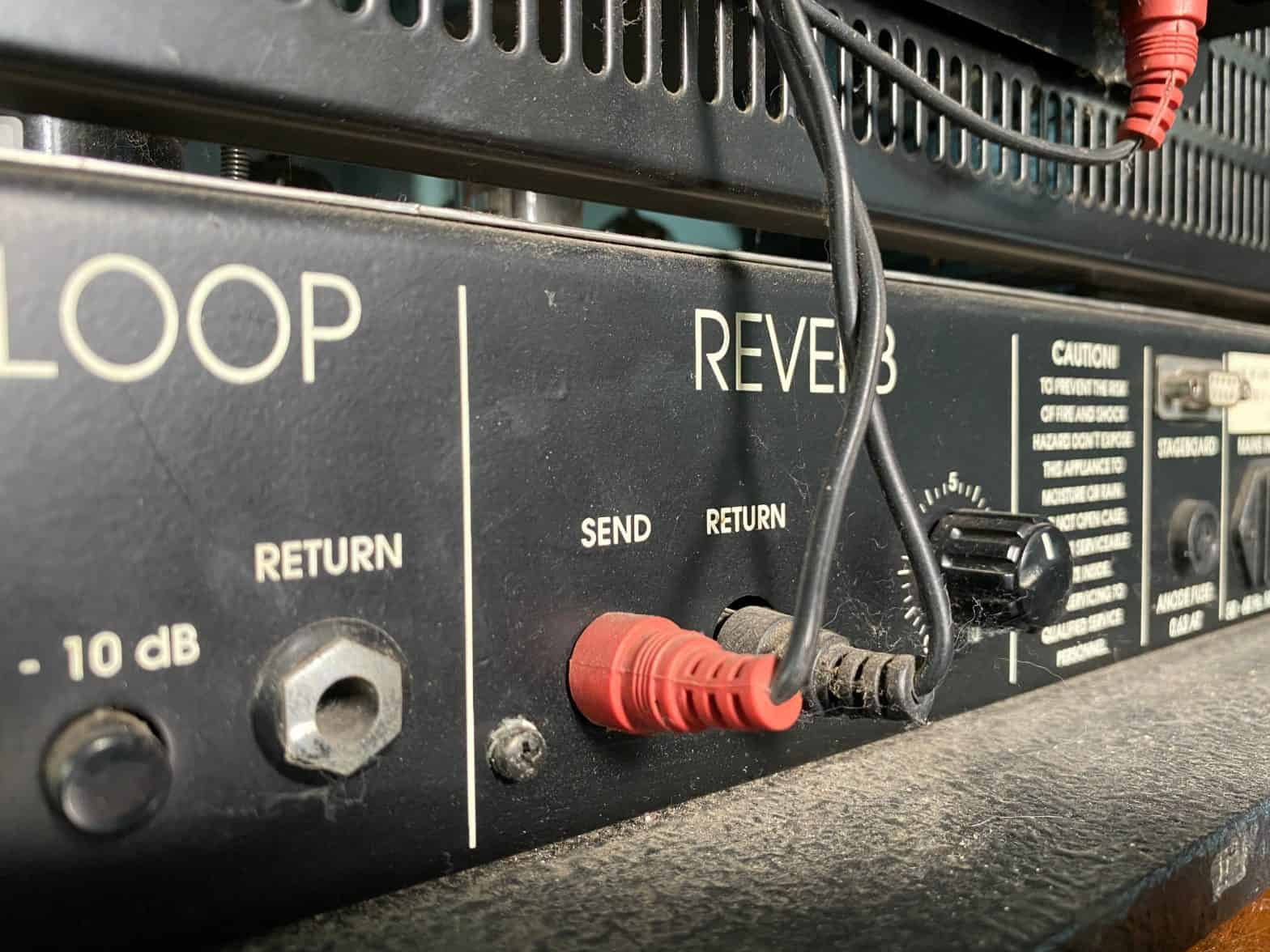 close up reverb channel on an amplifier
